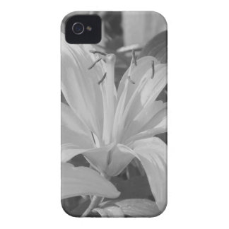 Black and White Tiger Lily iPhone Case