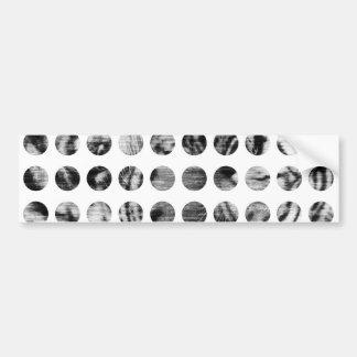 Black and White Tiger Polka Dots pattern Bumper Sticker