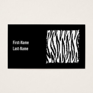 Black and White Tiger Print Pattern. Business Card