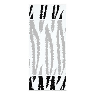 Black and White Tiger Print. Tiger Pattern. 10 Cm X 24 Cm Invitation Card