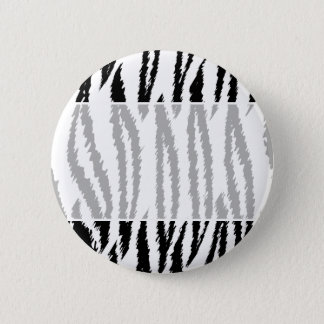 Black and White Tiger Print. Tiger Pattern. 6 Cm Round Badge
