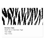 Black and White Tiger Print. Tiger Pattern. Business Card Templates