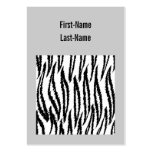 Black and White Tiger Print. Tiger Pattern. Business Cards