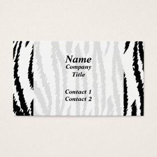 Black and White Tiger Print. Tiger Pattern. Business Card