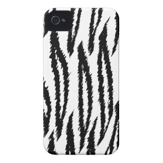 Black and White Tiger Print. Tiger Pattern. Case-Mate iPhone 4 Case