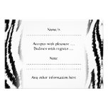 Black and White Tiger Print. Tiger Pattern. Personalized Announcement