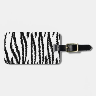 Black and White Tiger Print. Tiger Pattern. Luggage Tag