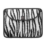 Black and White Tiger Print. Tiger Pattern. Sleeve For MacBook Pro