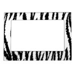 Black and White Tiger Print. Tiger Pattern. Magnetic Photo Frames