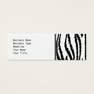 Black and White Tiger Print. Tiger Pattern. Mini Business Card