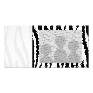 Black and White Tiger Print. Tiger Pattern. Photo Card Template