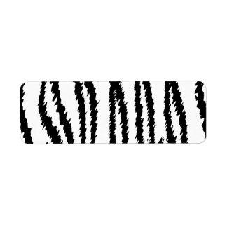 Black and White Tiger Print. Tiger Pattern. Return Address Label