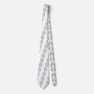 Black And white tiger tie. Tie