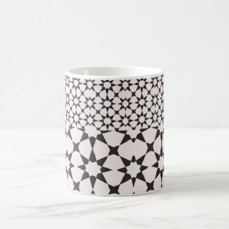 Black and white tile coffee mug