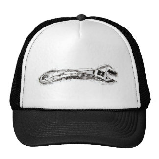 Black and White Tool Drawing Wrench Cap