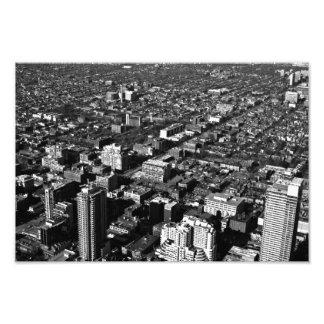 black and white Toronto city photograph