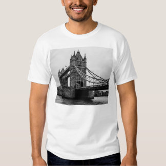 Black and White Tower Bridge, London UK Tees