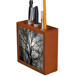 Black and White Tree Pencil Holder