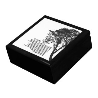 Black and White Tree Do It Anyway Gift Box