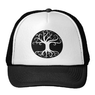 Black and White Tree of Life Hat