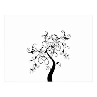 Black And White Tree Of Life Postcards