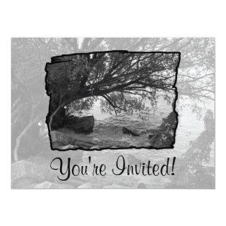 Black and White Tree Silhouette Invitation