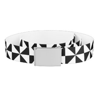 Black And White Triangle Pattern Belt
