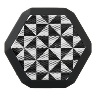 Black And White Triangle Pattern Black Bluetooth Speaker