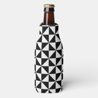 Black And White Triangle Pattern Bottle Cooler