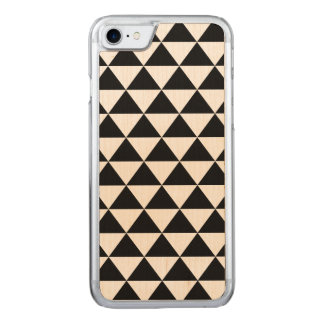 Black and White Triangle Pattern Carved iPhone 8/7 Case