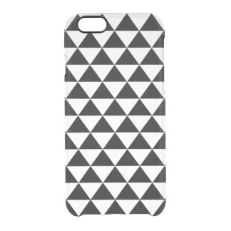 Black and White Triangle Pattern Clear iPhone 6/6S Case