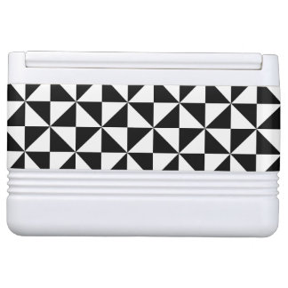 Black And White Triangle Pattern Igloo Cooler
