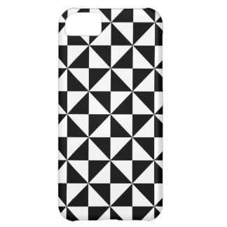 Black And White Triangle Pattern iPhone 5C Case