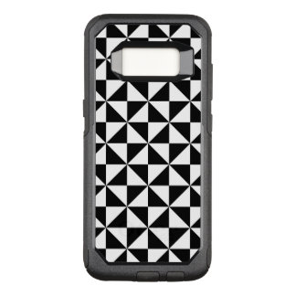 Black And White Triangle Pattern OtterBox Commuter Samsung Galaxy S8 Case