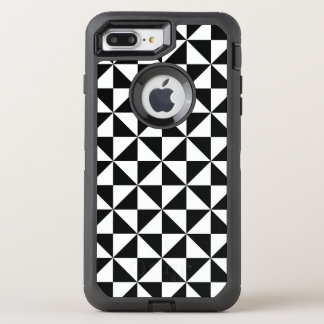 Black And White Triangle Pattern OtterBox Defender iPhone 8 Plus/7 Plus Case