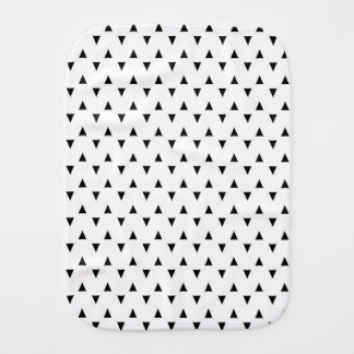 Black and White Triangles Burp Cloth