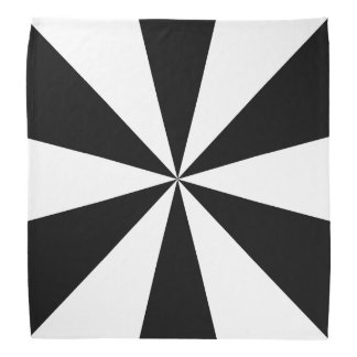 Black and white triangles kerchiefs