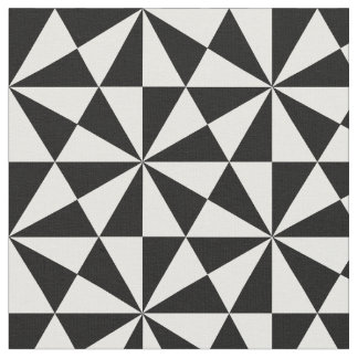Black and white triangles pattern fabric