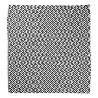 Black and white triangles pattern head kerchief