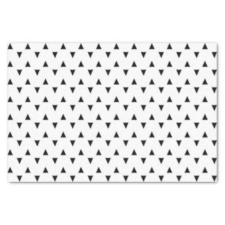 "Black and White Triangles 10"" X 15"" Tissue Paper"