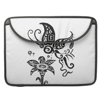 Black and white tribal butterfly sleeve for MacBooks
