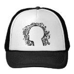 Black and white Tribal head Mesh Hat
