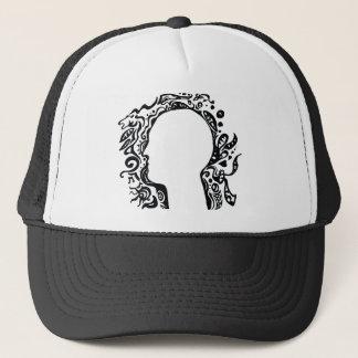 Black and white Tribal head Trucker Hat