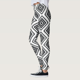 Black and White Tribal Leggings