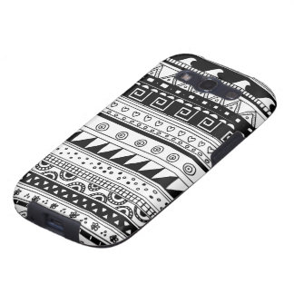 Black and white Tribal pattern Galaxy SIII Cover