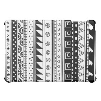 Black and white Tribal pattern Case For The iPad Mini