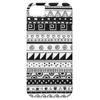 Black and white Tribal pattern Case For The iPhone 5