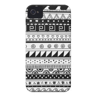 Black and white Tribal pattern iPhone 4 Covers