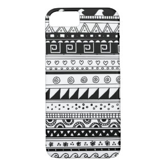 Black and white Tribal pattern iPhone 8/7 Case