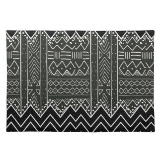 Black and White Tribal Pattern Placemat